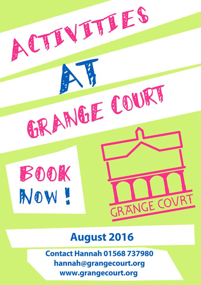 Summer activities at Grange Court